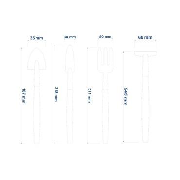 Conjunto de Ferramentas Para Vasos 4 peças Cabos de Madeira 78104/801 - Tramontina