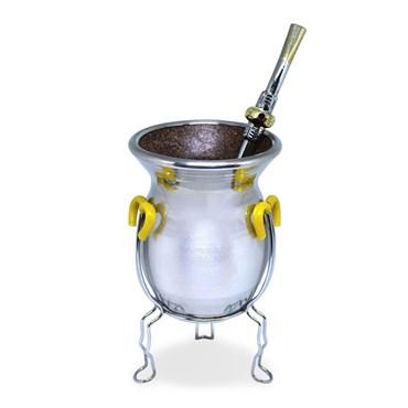 Conjunto Para Chimarrão e Terere Em Alumínio - Cuia + Bomba