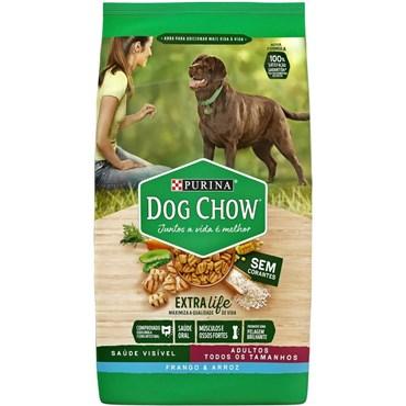 Dog Chow Adultos Raças Médias e Grandes sabor Frango e Arroz 15kg