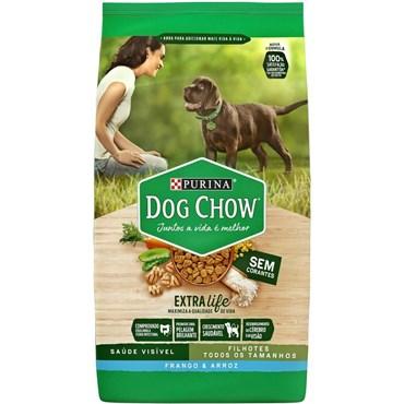 Dog Chow Cães Filhotes de Raças Médias e Grandes sabor Frango Arroz 15kg