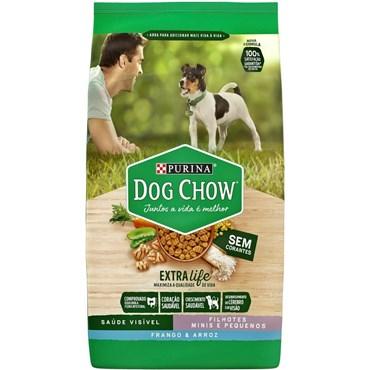 Dog Chow Cães Filhotes de Raças Pequenas sabor Frango e Arroz 15kg