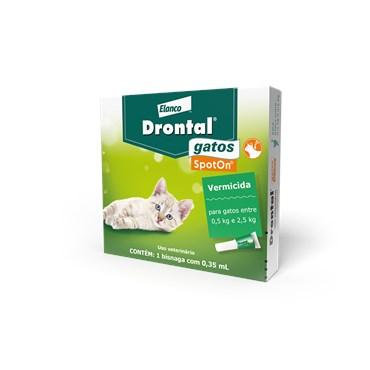 Drontal (Profender) SpotOn 0,35 ml Vermicida para Gatos Entre 0,5kg e 2,5kg - Bayer
