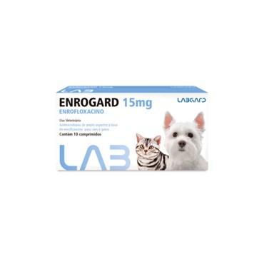 Enrogard (Enrofloxacino) 15mg Antimicrobiano para Cães e Gatos - 10 comprimidos