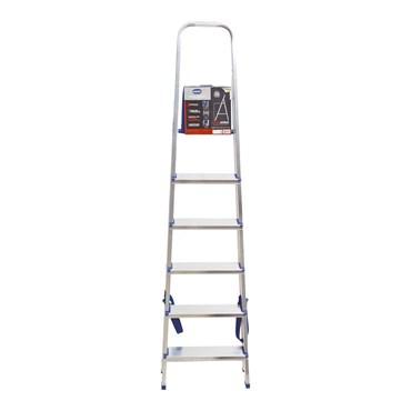 Escada de Alumínio Residencial 6 Degraus Ref. 5104 - Mor