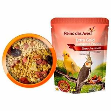 Extra Gold Calopsita Frutas 400g - REINO DAS AVES