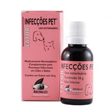 Fator Medicamento Homeopático Infecções Pet 26g - Arenales