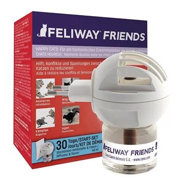 Feliway Friends Kit Inicial Difusor Elétrico + Refil 48ml - Ceva