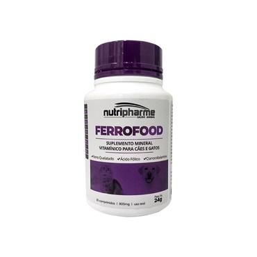 Ferrofood Suplemento Mineral Vitamínico para Cães e Gatos - 30 Comprimidos