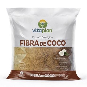 Fibra de Coco Para Jardins e Vasos Ornamentais 200g - Vitaplan