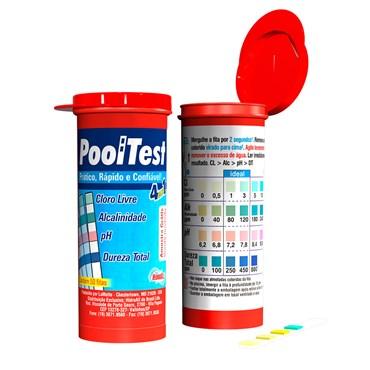 Fita Teste 4x1 Pooltest Hidroall - 50 Unidades