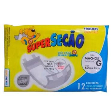 Fralda para Cães Machos Supersecão Tamanho G - PETIX