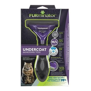 Furminator Cat Profissional para Gatos Médios e Grandes de Pelos Longos