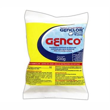 Genclor T-200 Tablets de Cloro Estabilizado 200g - Genco