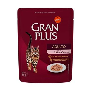 Gran Plus Sachê Para Gatos Adultos Sabor Salmão 85g