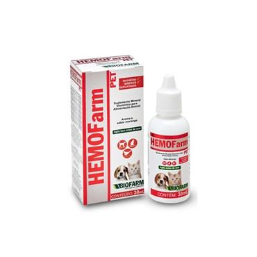HEMOFarm Pet Suplemento Mineral Vitamínico para Alimentação Animal 30ml