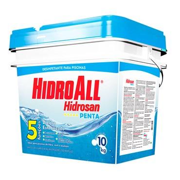 Hidrosan Penta Cloro Granulado Para Piscina Com 5 Funções Balde 10kg - Hidroall