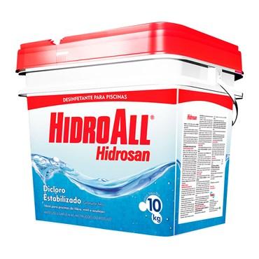 Hidrosan Plus Dicloro Estabilizado Para Piscina Balde 10kg - Hidroall