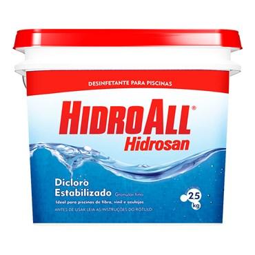 Hidrosan Plus Dicloro Estabilizado Para Piscina Balde 2,5kg - Hidroall