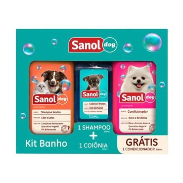 Kit Sanol Com Shampoo, Colônia e Condicionador