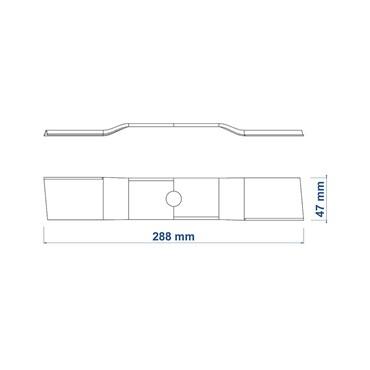 Lâmina de Reposição 300 mm Para Cortador de Grama CE30M e CE30P - 78799/692 - Tramontina