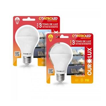 Lâmpada Led Controled Com 3 Tons de Luz 9W 6500k - Ourolux