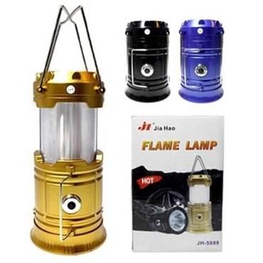 Lampião e Lanterna LED Chama à Pilha REF. J28B