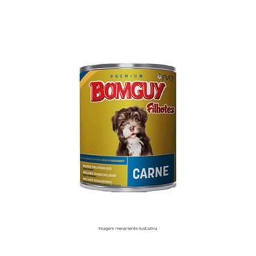 Lata Bomguy Premium Sabor Carne para Cães Filhotes 300g