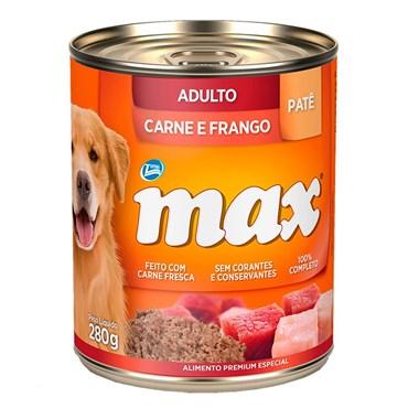 Lata Max Cães Adultos sabor Carne e Frango 280g