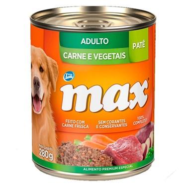 Lata Max Cães Adultos sabor Carne e Vegetais 280g