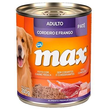 Lata Max Cães Adultos sabor Cordeiro e Frango 280g