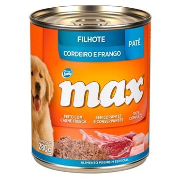 Lata Max Cães Filhotes sabor Cordeiro e Frango 280g