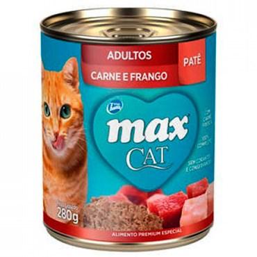 Lata Max Cat para Gatos Adultos sabor Carne e Frango 280g
