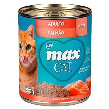 Lata Max Cat para Gatos Adultos sabor Salmão 280g