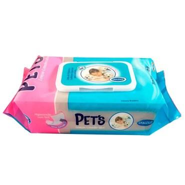 Lenço Umedecido com 80 toalhas - AMERICAN PETS