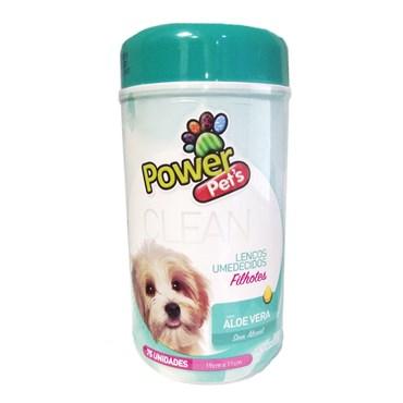 Lenços Umedecidos para Higienização de Cães e Gatos 75 unidades -  Power Pets