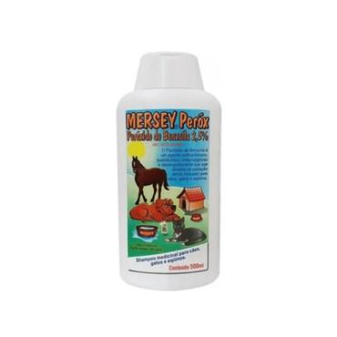 Mersey Peróx Shampoo Medicinal para Cães, Gatos e Equinos 500ml