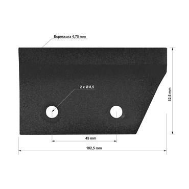 Navalha de Corte Lateral Para Triturador Orgânico TRO25 - 78795/995 - Tramontina