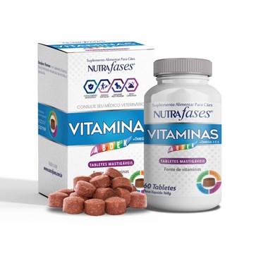 Nutrafases Vitaminas Suplemento Alimentar para Cães 60 Tabletes