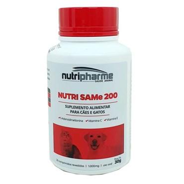 Nutri SAMe 200 Suplemento Alimentar Para Cães e Gatos 30 Comprimidos - Nutripharme