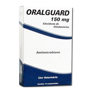 Oralguard 150mg Antimicrobiano Para Cães e Gatos - 14 Comprimidos