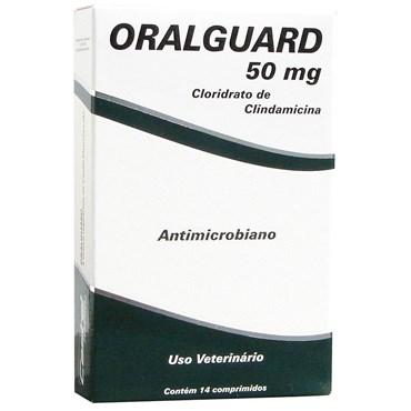 Oralguard 50mg Antimicrobiano Para Cães e Gatos - 14 Comprimidos