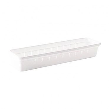 Organizador de Gaveta em Plástico L1 30,0x7,9x 5,0 cm - Plasútil