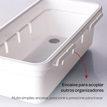 Organizador de Gaveta em Plástico L2 37,5x15,4x5,0 cm - Plasútil