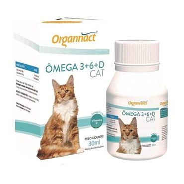 Organnact Omega 3 e 6 + Vitamina D Para Gatos 30 ml