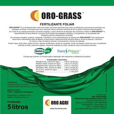 Oro-Grass Fertilizante Foliar Misto Para Pastagens 5 L - Oro Agri Brasil