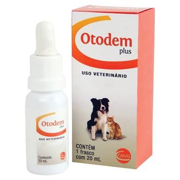 Otodem Plus Solução Otológica Para Cães e Gatos 20ml