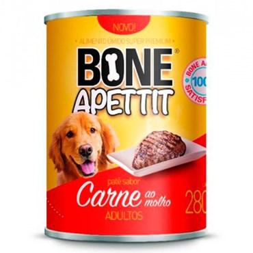 Patê Bone Apettit para Cães Adultos Sabor Carne ao Molho Lata 280g
