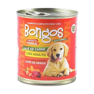 Patê Bongos para Cães Adultos Sabor Carne Lata 280 g