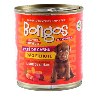 Patê Bongos para Cães Filhotes Sabor Carne Lata 280 g