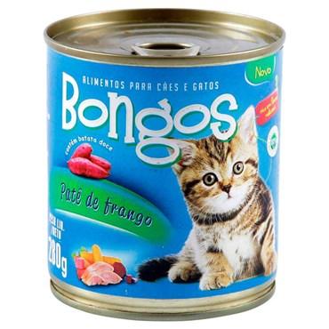 Patê Bongos para Gatos Sabor Frango Lata 280 g